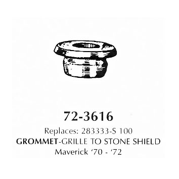 Grommet - grille to stone shield