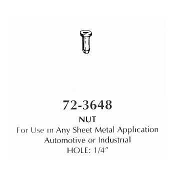 Nut - for use in any sheet metal