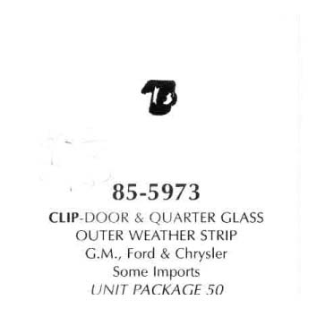 Clip-Door & Quarter Glass Outer Weahterstrip